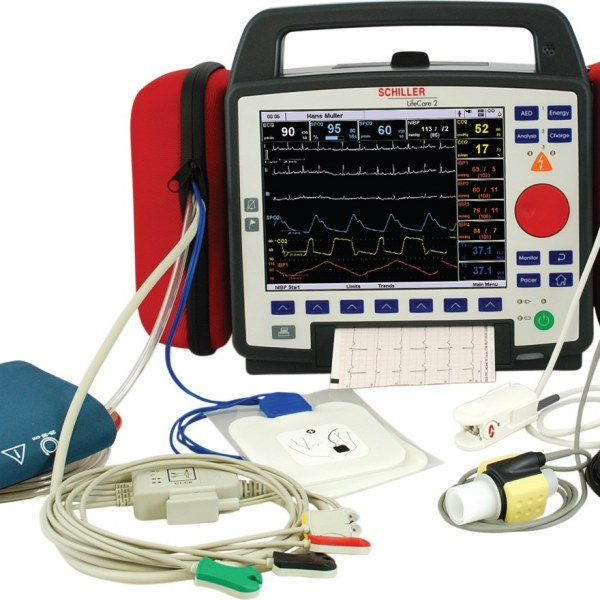 ARGUS PRO LifeCare 2 Basic System ECG, SpO2, NIBP, AED with manual mode, pacemaker and printer