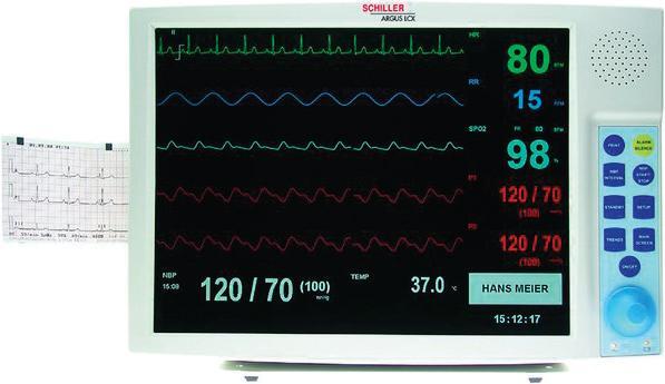Schiller ARGUS LCX– ECG, Resp, SpO2, NIBP
